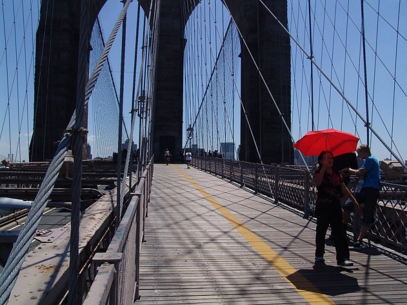 Too much sunny on the bridge