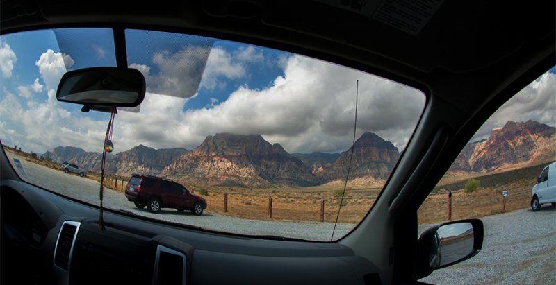 Arriving: Red Rock Canyon