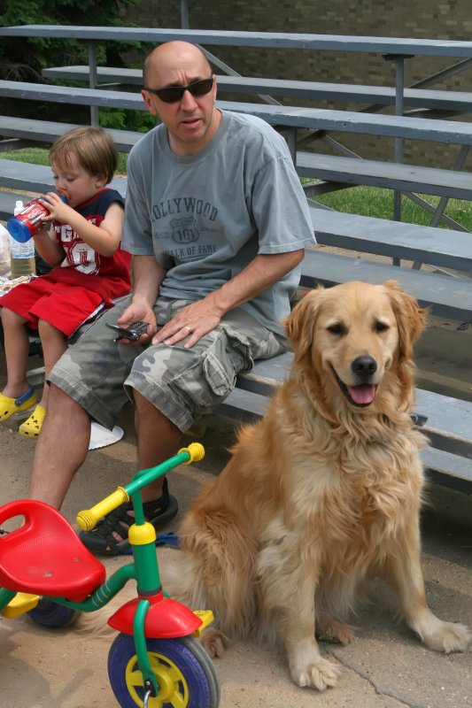 at the little league field, 2007