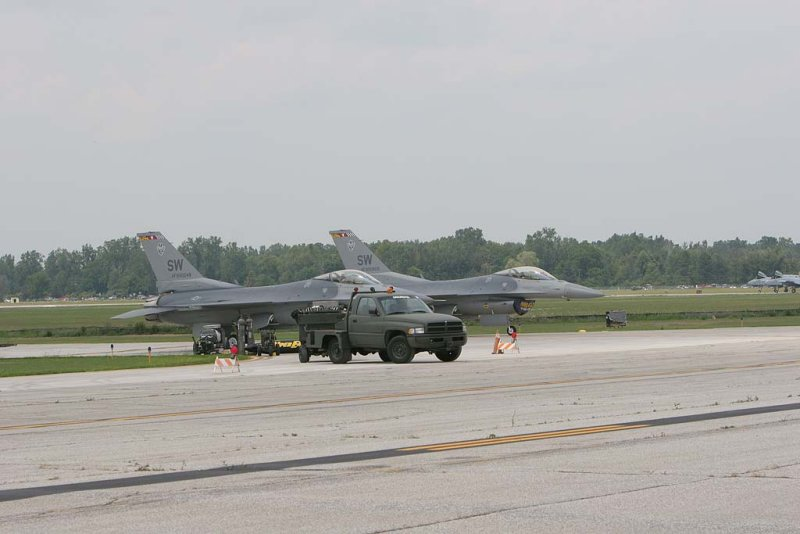 Pair of F-16 Fighters