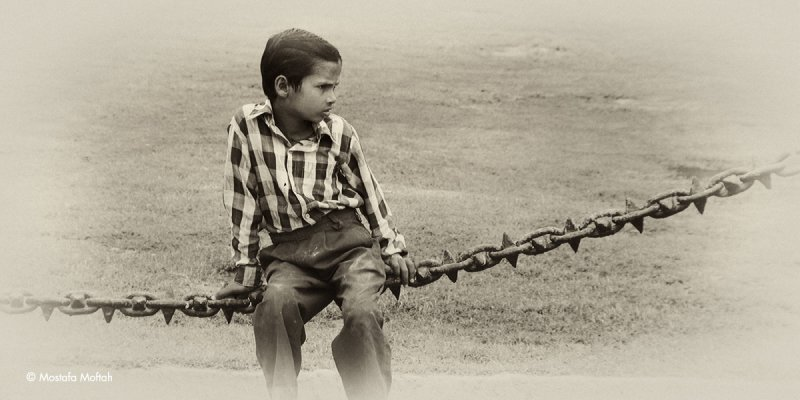 Sitting on a Chain - India