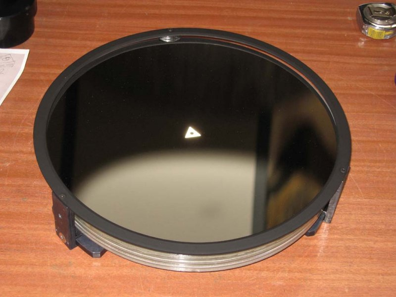 300mm Ultra Grade mirror mounted with beveled edge mask
