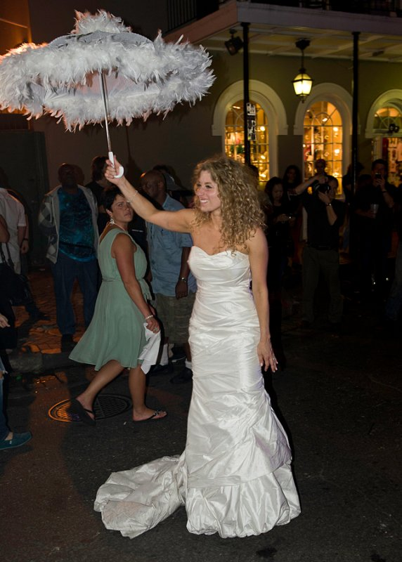 It was her wedding and she danced down Bourbon Street
