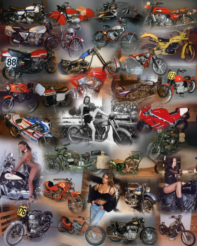 Full Throttle aka Vintage Motorcycle collage