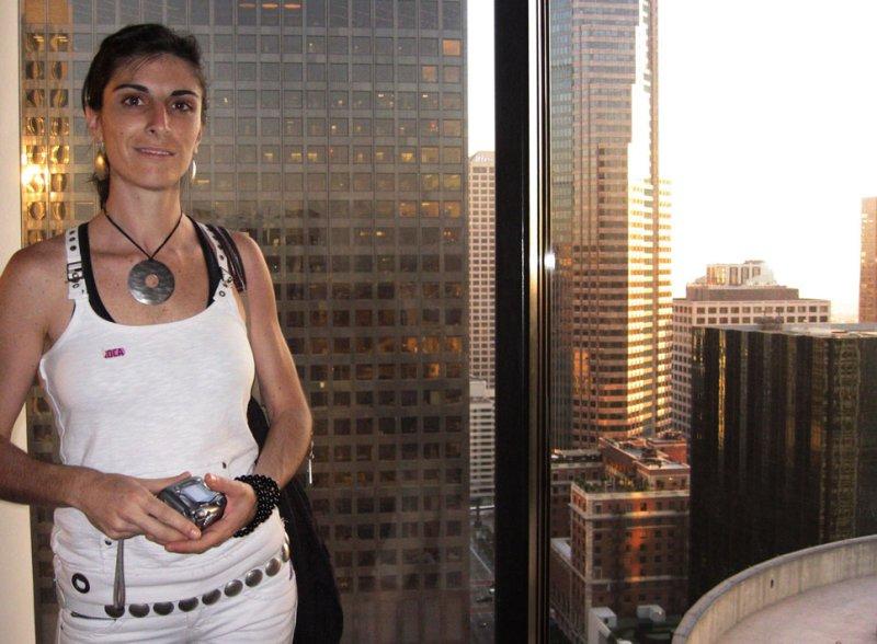 Silvia above the city