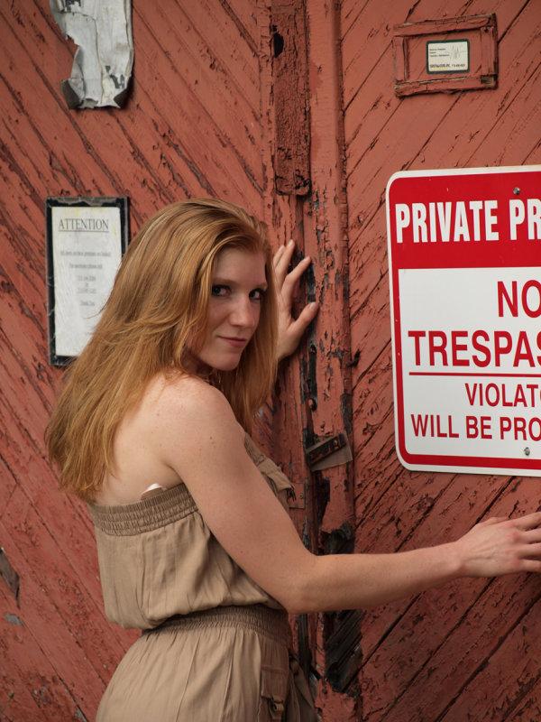 She Wont Trespass...Will She..??