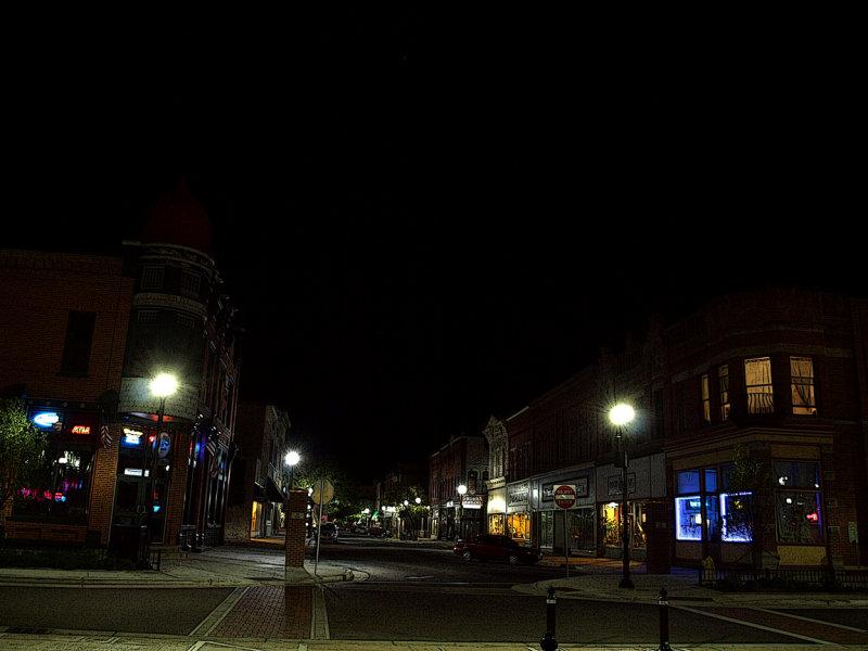 Looking East Down Main Street