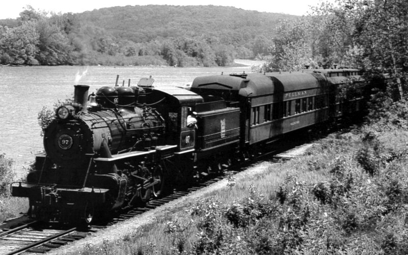 Engine 97 With Passenger Cars