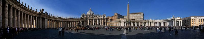 Piazza  San Pietro, 180 degree panoramic view