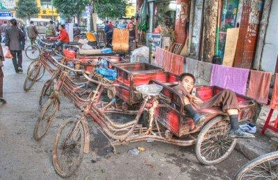China bike drivers