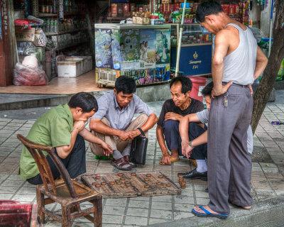 China playing checkers