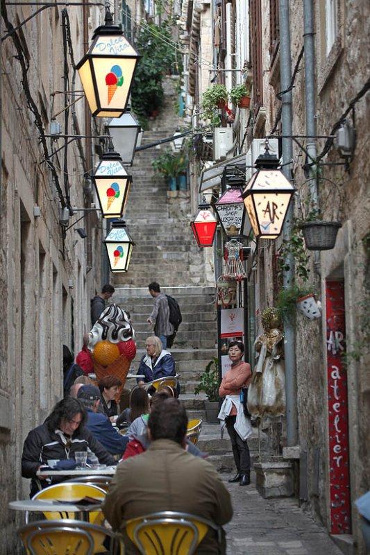 A beautiful lane in Dubrovnik