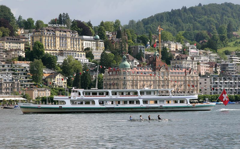 Lucerne and the hotels