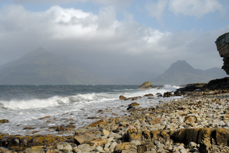from in front of Port Elgol Cottage