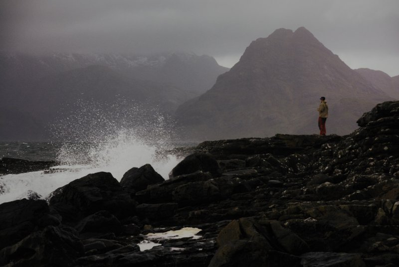 welcome to Port Elgol; 1st foray onto beach