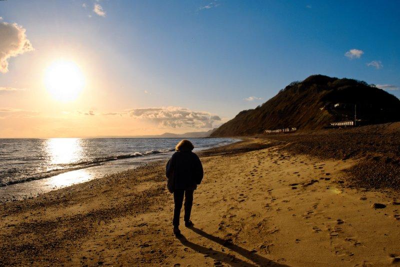 On Branscombe beach