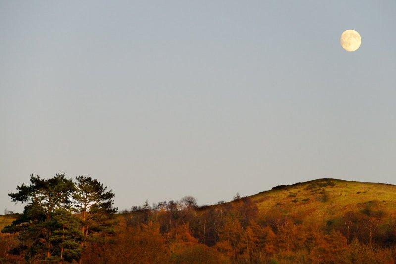 moon over Malvern Hills