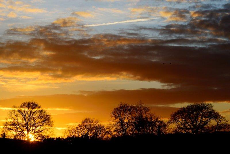 brief sunset