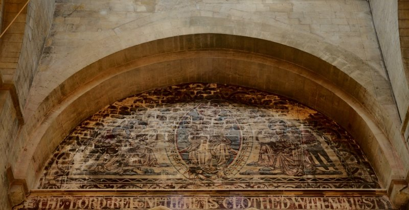 tympanum at west end where the nave was