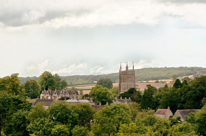 The church from rise towards Whatley