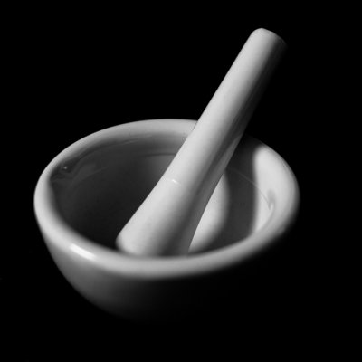 Shadowed Mortar and Pestle