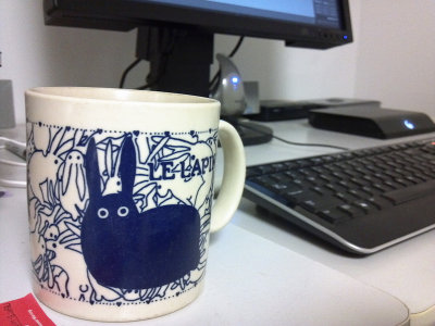 Rabbit Mug of Ginger Tea