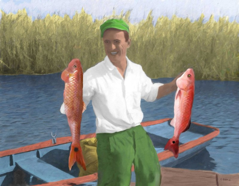 One Happy FISHERMAN !