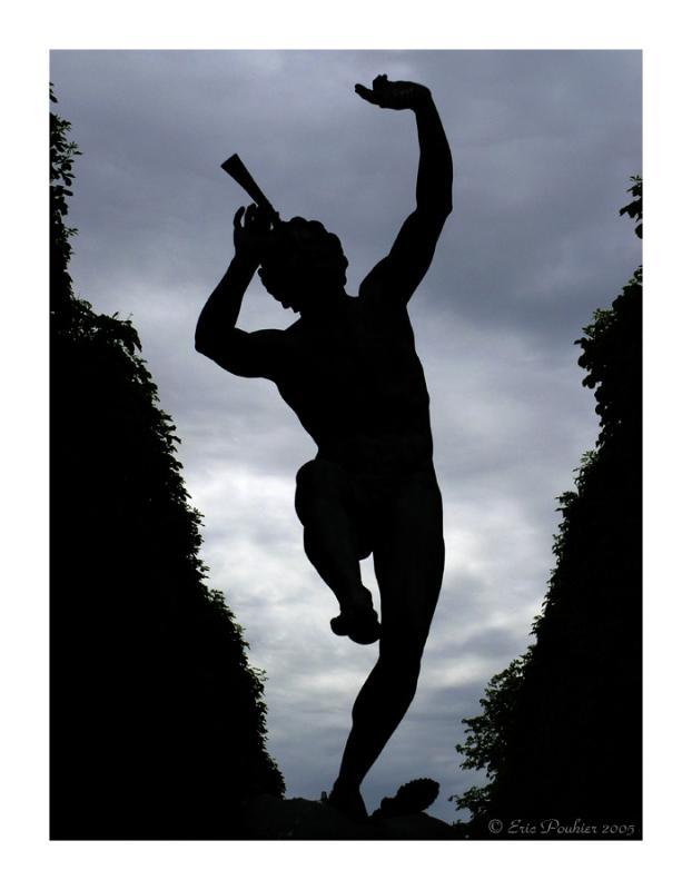 Satyre (Faune) playing flute - Paris