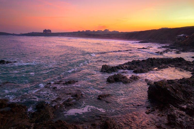 Fistral beach at dusk, Newquay