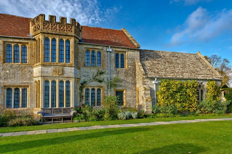 One side of Lytes Cary Manor
