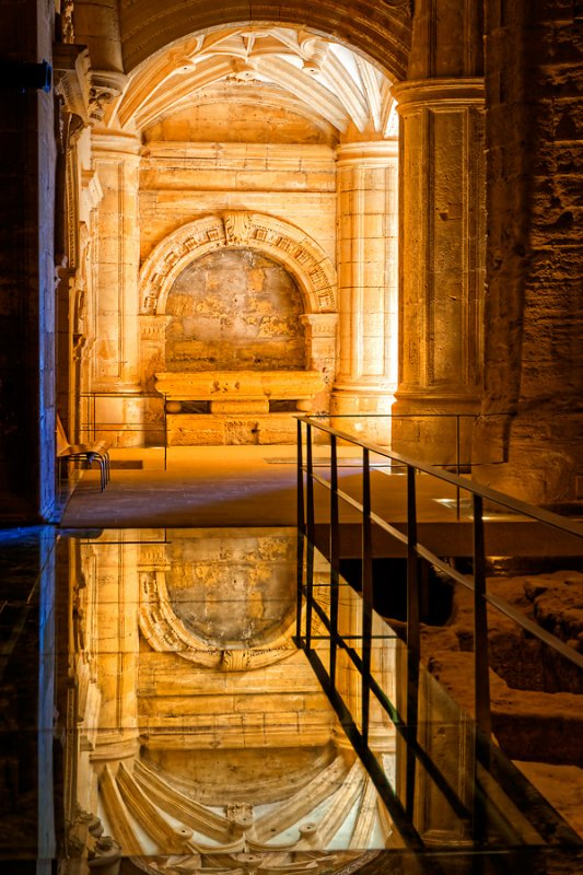 Reflection in the church at La Mota fortress