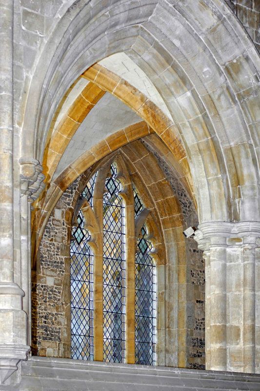 Milton Abbey ~ arches and window (1577)
