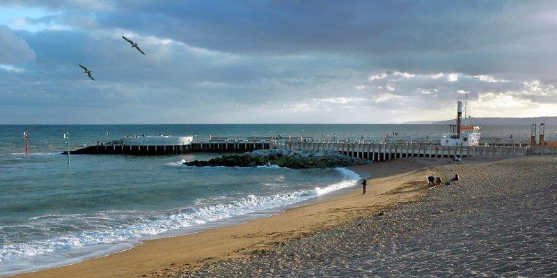 Beach and pier, West Bay, Dorset
