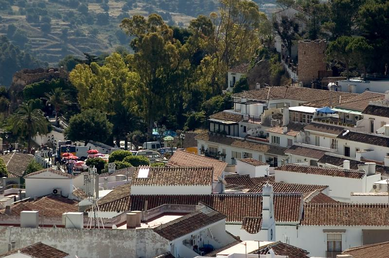 View across the village centre, Mijas