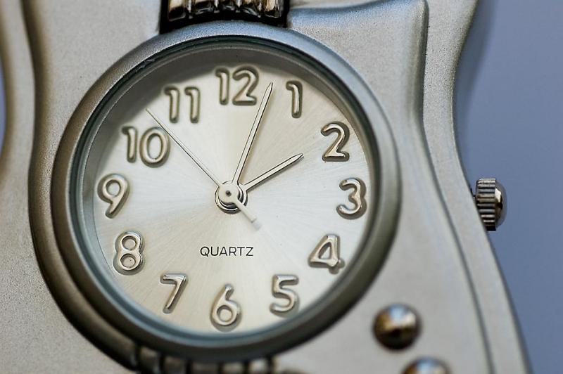 Guitar clock, own desk, Martock