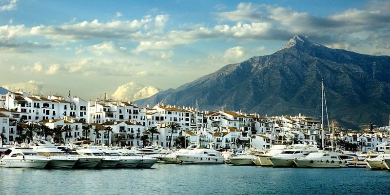 Harbour and mountain, Puerto Banus
