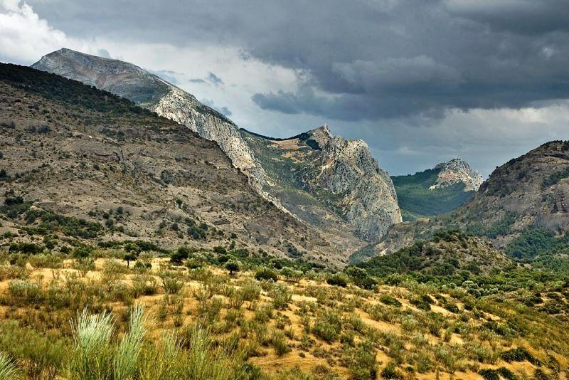 Mountain range, near El Chorro