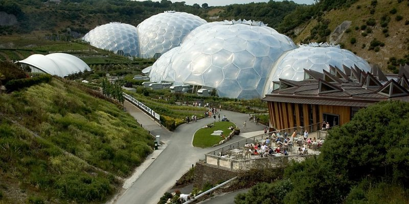Terrace and domes, Eden Project, Cornwall