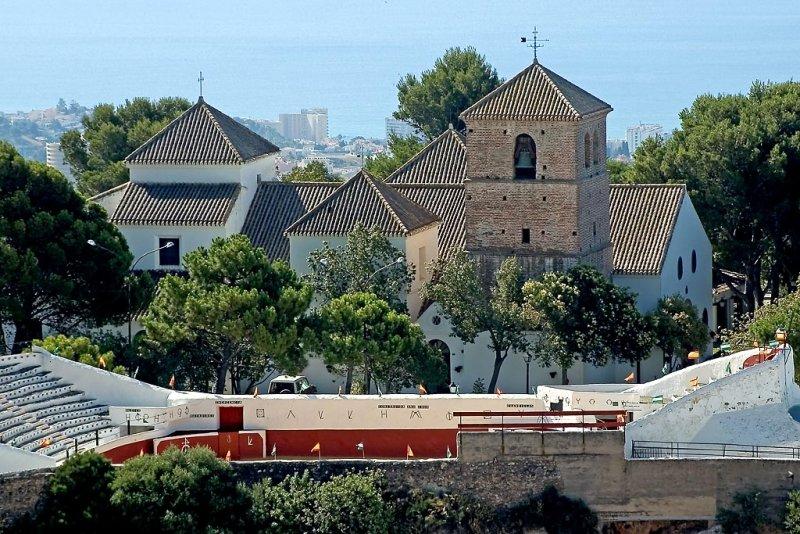 Bullring and church, Mijas