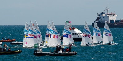 On their way, 2012 Olympic sailing, Weymouth