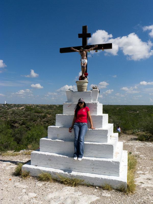 Patricia at Cerro Santa Cruz summit