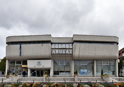 SÁROSPATAK, Shopping center, Imre Makovecz