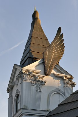 Winged tower
