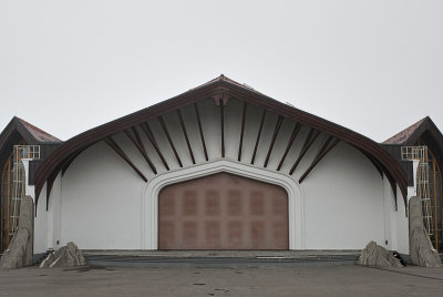 Theater, outdoor stage, rear