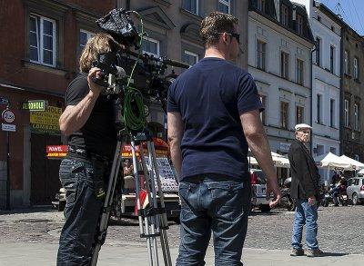 Jewish Quarter, filming on Szeroka St.