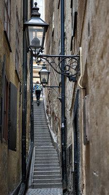 Narrowest street in Stockholm