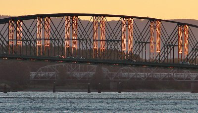 Interstate-5 Bridge at Sunset