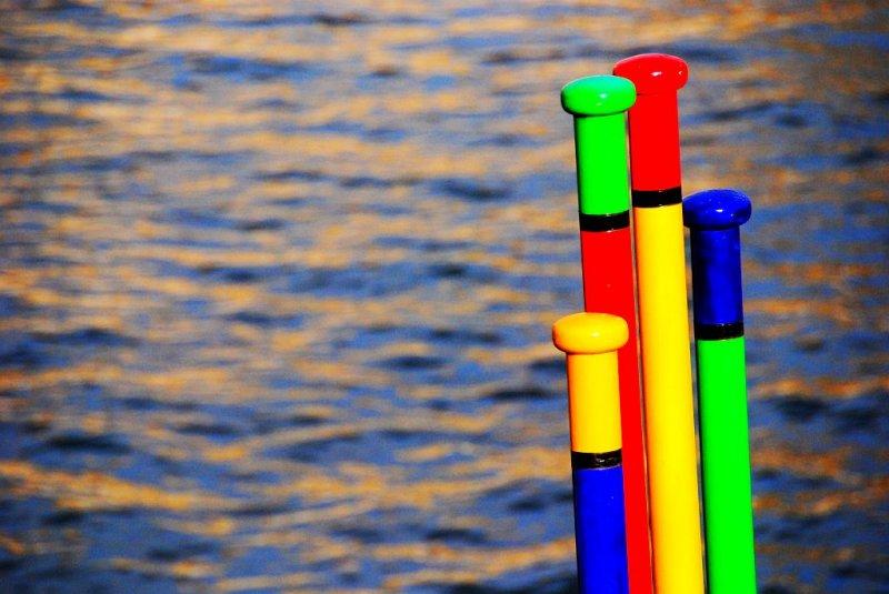 Colored sticks.