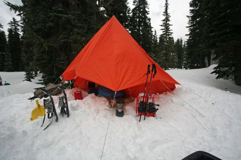 Sand Lake C& With 1972 REI 4 Man Expedition Tent *( Mt & Sand Lake Camp With 1972 REI 4 Man Expedition Tent *( Mt ...