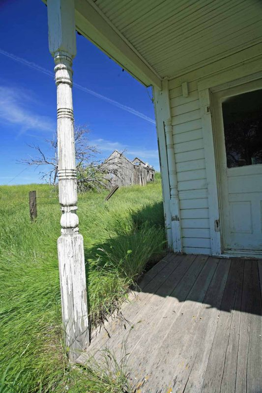 Abandoned  Porch With View